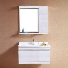 巴洛克 不锈钢木纹浴室柜超值尊享组(80cm)