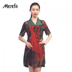 Merefa逆光彩虹香云纱真丝两穿连衣裙
