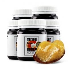 新西兰原瓶原装进口麦卢卡10+蜂蜜  250g*5瓶