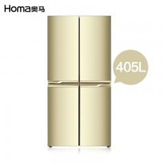 奥马405升电脑温控4门冰箱