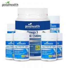 新西兰好健康omega-3鱼油 400粒*1瓶+30粒*6瓶(跨境购)