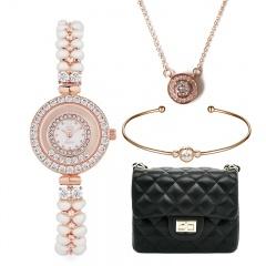 CC天然珍珠舞钻女士腕表组