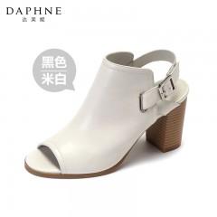 Daphne 达芙妮优雅丽人时尚穆勒鞋 粗跟高跟鞋女鞋凉鞋