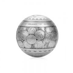 中国熊猫金币发行35周年纪念摆件