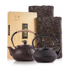 天泉池手工铁壶陈年茯砖茶收藏组