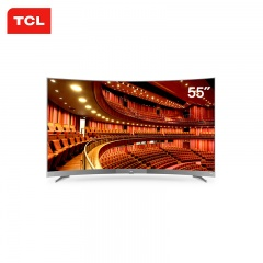 TCL 55英寸旗舰曲面4K超清超薄智能网络电视(TCL外场)