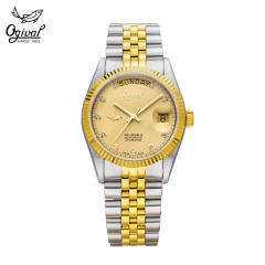 瑞士原装进口爱其华经典系列真钻机械腕表