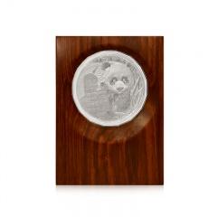 中国熊猫金币发行35周年纪念银章