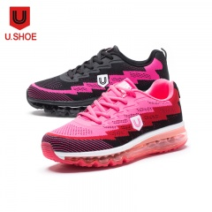 U.Shoe优树全掌飞织气垫运动休闲女鞋