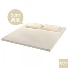 泰国进口纯乳胶床垫 长1.5M高度5CM 乳胶床品乳胶枕