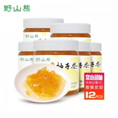 野山熊蜂蜜柚子茶(325g*12罐+25g*3支)
