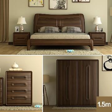 REALONE瑞欧新中式全实木卧房组1.5米