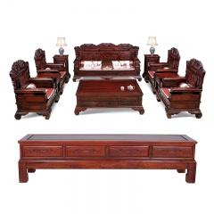 红酸枝富贵年华沙发11件套买赠组((订金1)