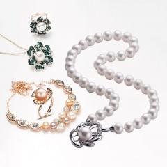 水年华国色天香大颗粒珍珠项链套装 珍珠项链2条 +项链1条+ 吊坠2个+ 戒指1个