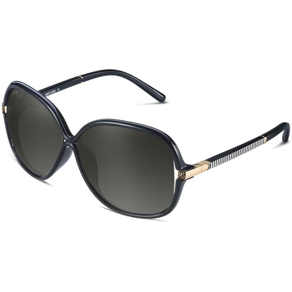 陌森眼镜 女士眼镜太阳镜墨镜ms1147 j01 镜框黑色/镜片渐进灰