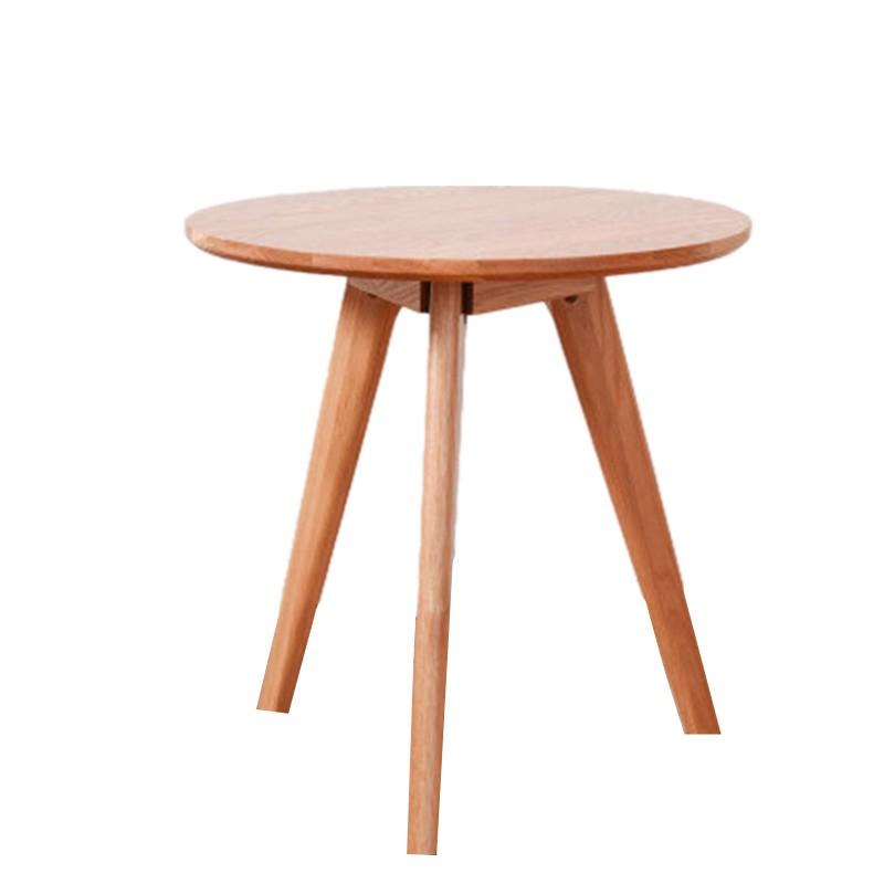 家逸实木简约欧式客厅沙发边桌咖啡桌小茶几 胡桃木色
